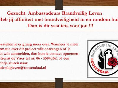 Maak jij gemeente Roosendaal brandveiliger?